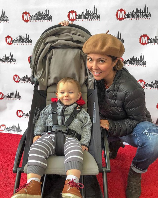 Although Asher won't be at the screening of my short, Happy Hour, tomorrow night (past his bedtime) at the @manhattanfilmfestival, I had to take him by the theatre today. After all, he was on set (in my belly). 🎬  Also, the whole story is for another time, but my pregnancy is the main reason I made the jump from acting to directing. I realized I was a story teller, and my physical state limited my opportunities to tell stories in the way I was accustomed to telling them, as an actor. But as a writer and director I could communicate in so many different ways. What a rush! And, I'm definitely planning on having Asher at my next shoot. Icing on the cake. 📷: @ag457