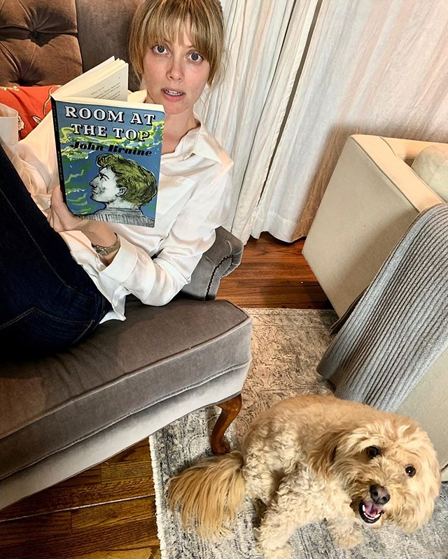 Join @aprilthebowlby and me over at the @75reads podcast as we wrap up Room At The Top. It's an emotional roller coaster well worth the ride! Thank you, #Bowie! #summerreads2019 #bookpodcast #bookclubbing ~link in bio  P.S. Hi 🐶! 💛