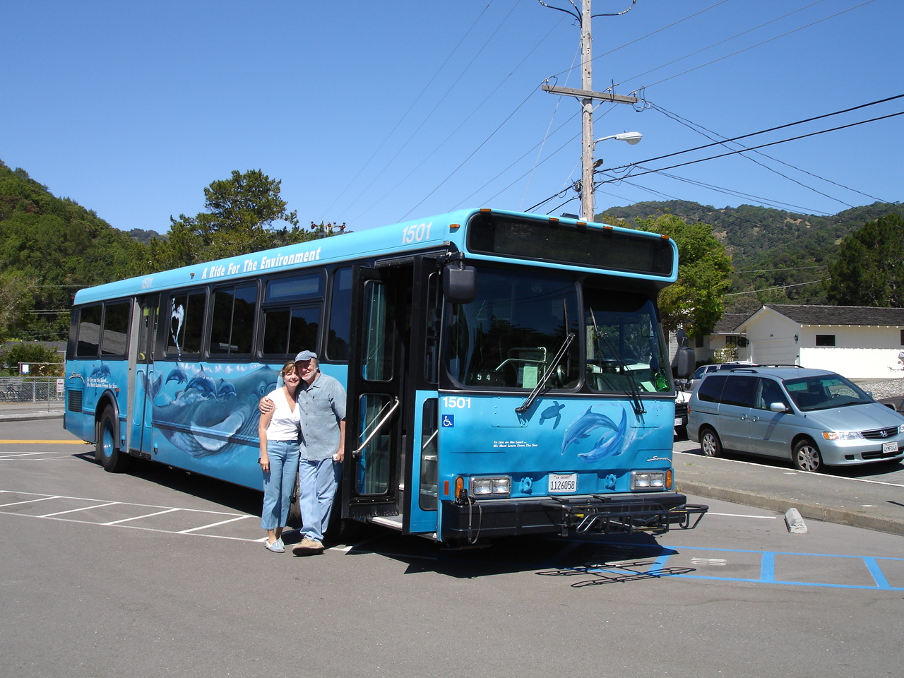 The Whale Bus - Golden Gate Transit - Public Bus handpainted by George and a ongoing visit to public schools  program by Donnalei.jpg