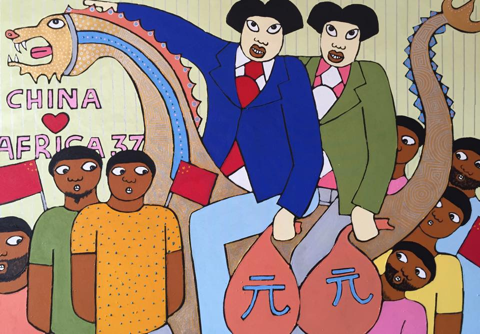 Micheal Soi, China Loves Africa 37, 2015. Copyright Michael Soi, AO! Artist in Residence 2016