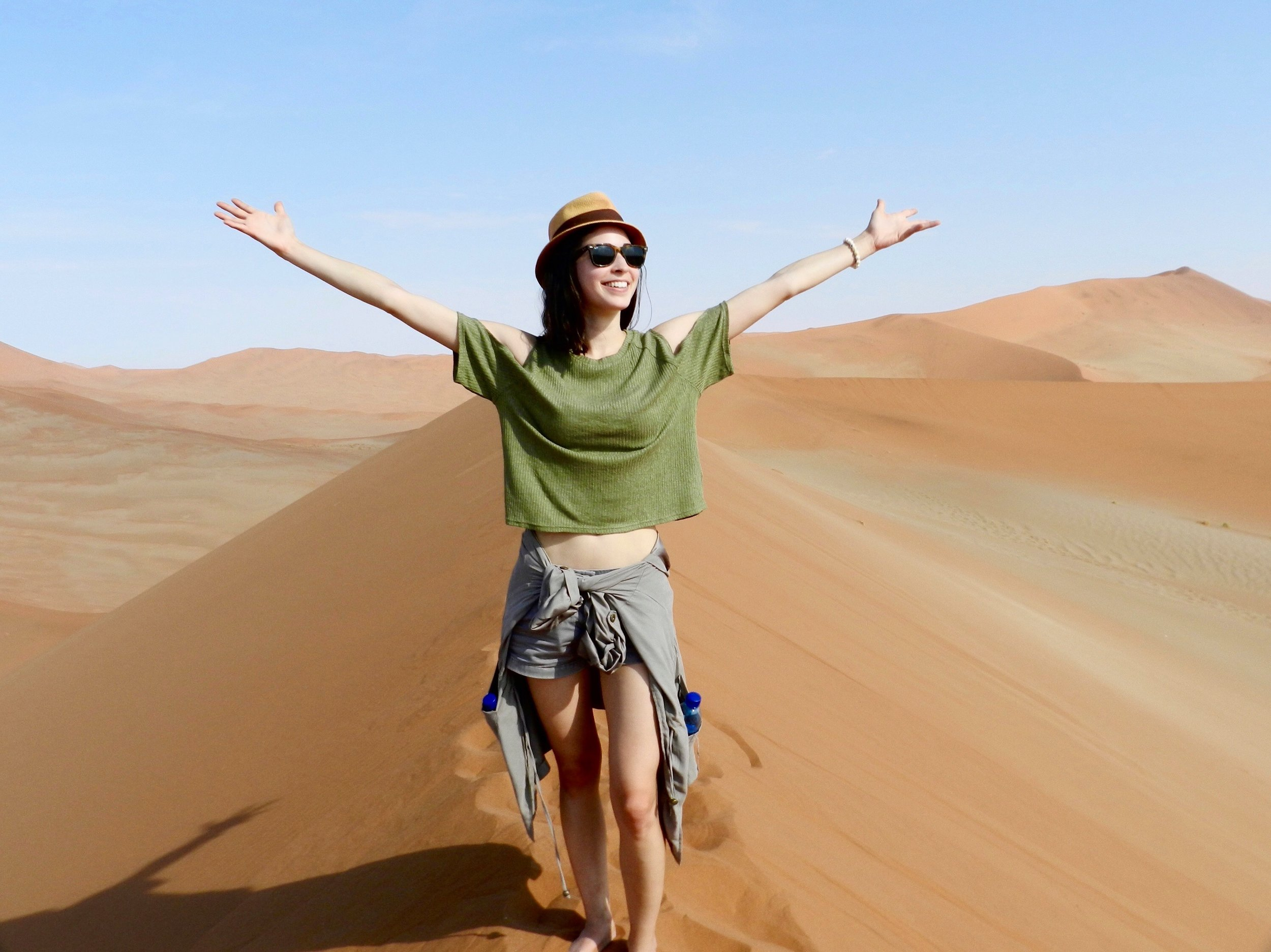 Elle Powell in Namibia