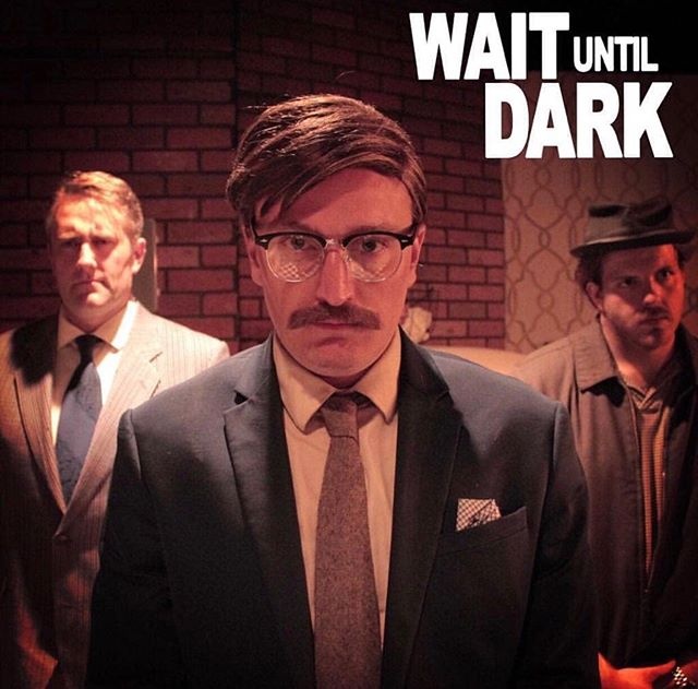 Wait Until Dark...now open at @loftensemble . Worked on the 1960's makeup design and facial hair. Wig styled by @tinyteacup_ . . Come see this suspenseful show! . . Actor: @thegoodjared Photography: @heyvictoriaanne  #theater #makeup #makeupdesign #facialhair #mustache #disguisemakeup #availablebooking #theatre #northhollywood #mua #makeupartist #art #livetheater #designer