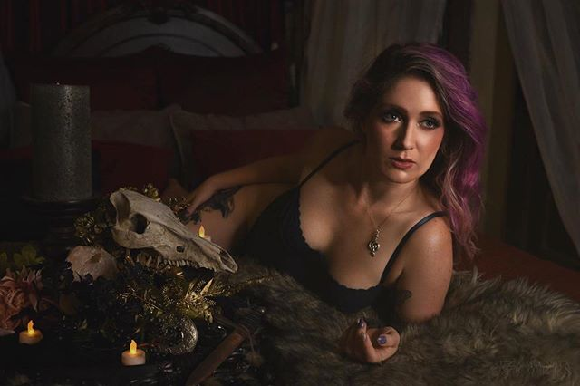 I don't usually get infront of the camera but when I do.... @amandabolinart slays with her photography. Treated myself to a birthday boudoir shoot. . . Makeup: @alifcmakeup  Photography and editing: @amandabolinart  Bodysuit: @dollskill . . #birthdayboudior #boudior #beauty #dewy #occult #witch #makeup #mua #treatyourself #naturephotography
