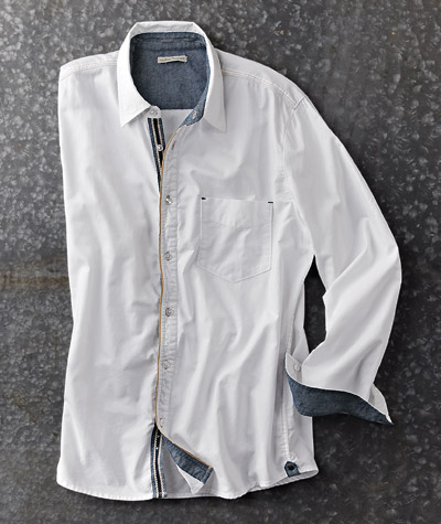 The perfect update to the classic white shirt.