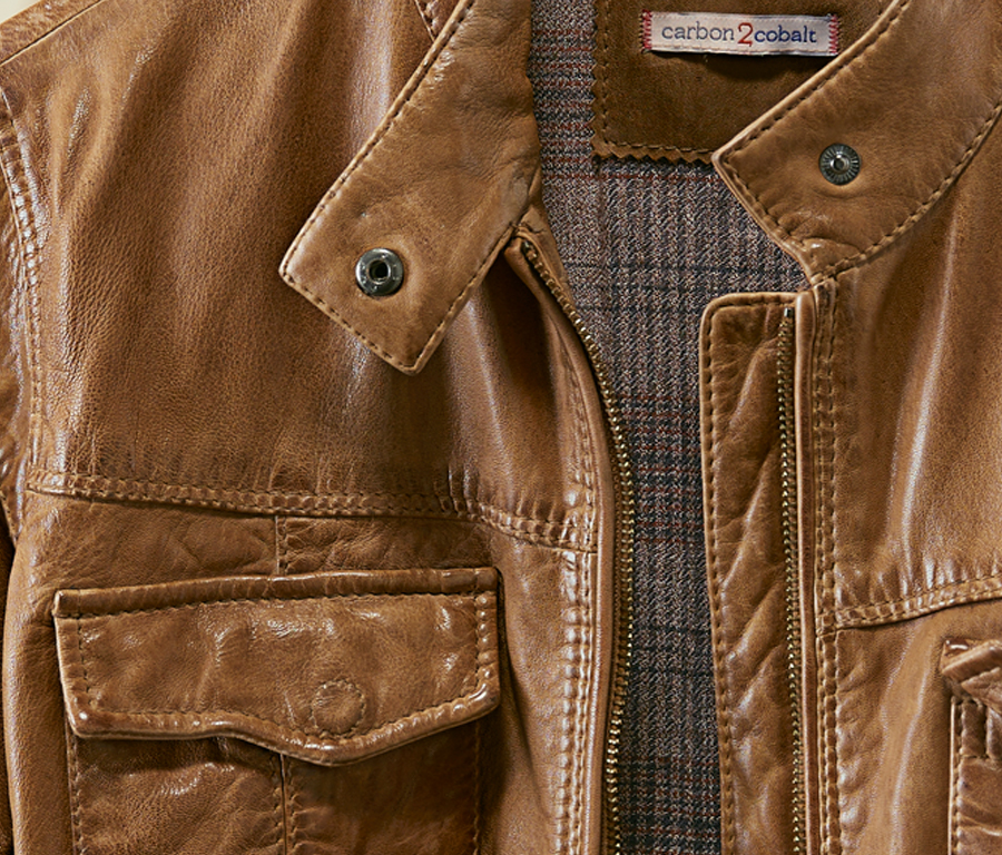 Take a closer look at the Sojourner Leather Jacket  This vintage-feeling light-weight leather jacket feels like a rare and fabulous find. It's lush and soft and is shaped to be flattering, not boxy. A super cool addition that fits perfectly into any Fall wardrobe.