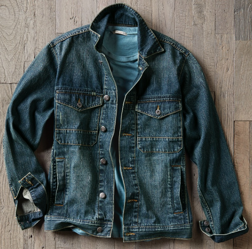 An evolved version of the classic denim jacket — with premium ring-spun denim with a touch of field coat styling. - RINGER DENIM JACKET