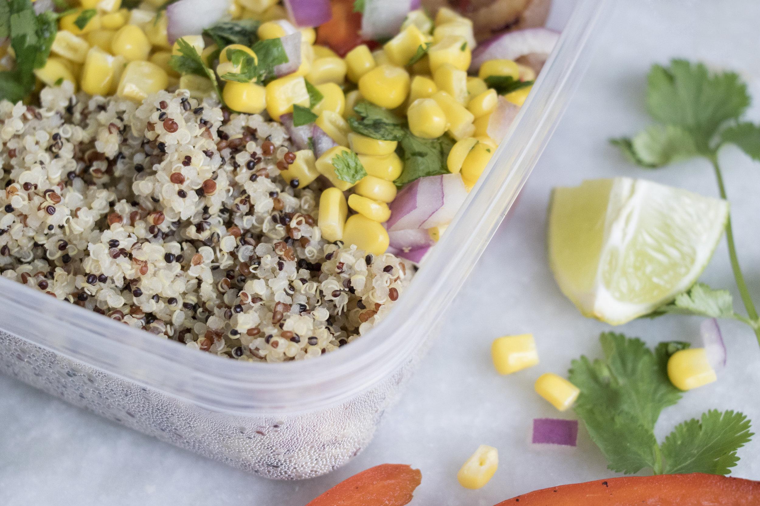 chicken quinoa burrito bowl