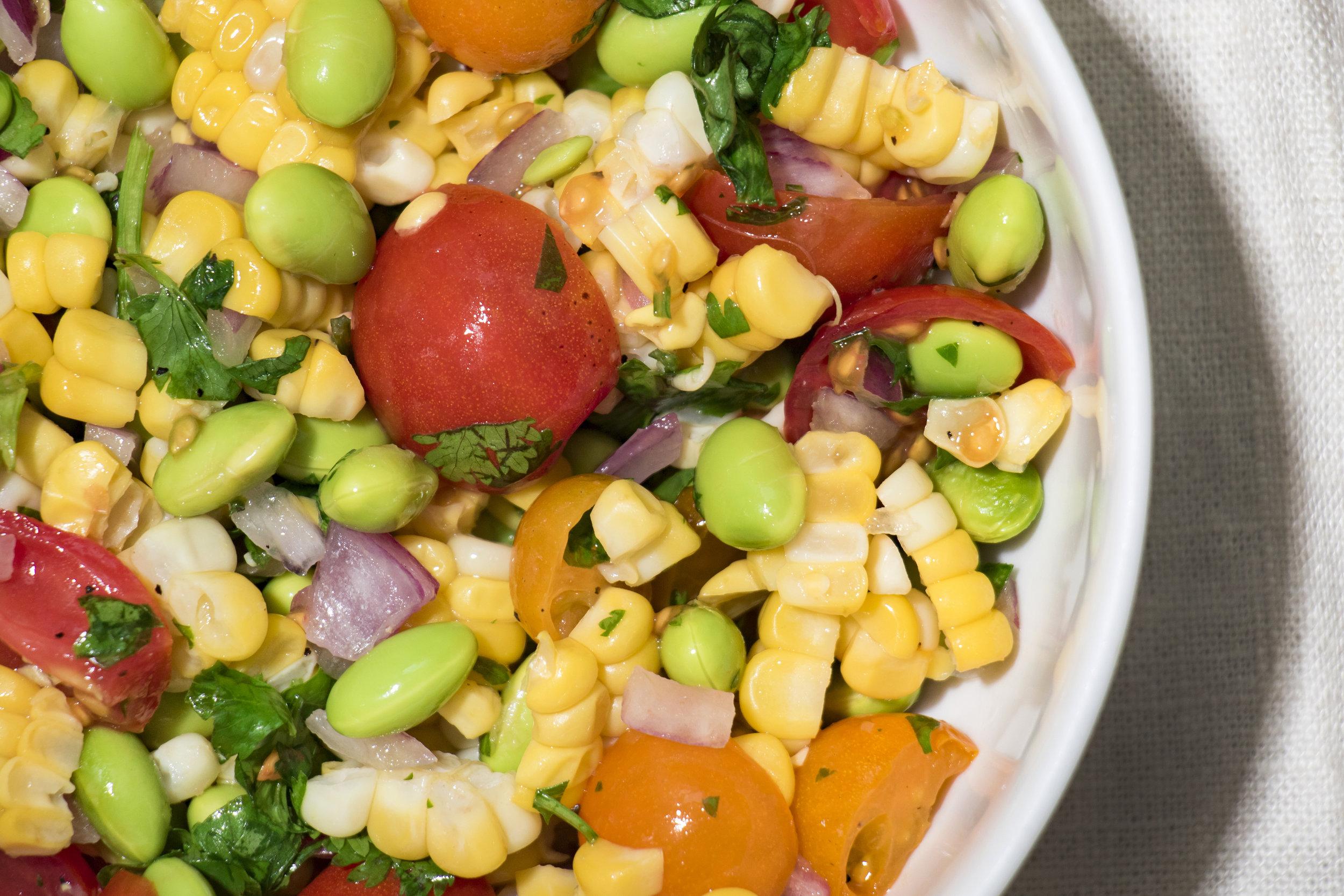 Cincinnati Food Photographer | Edamame Salad Macro| Allison McAdams.jpg