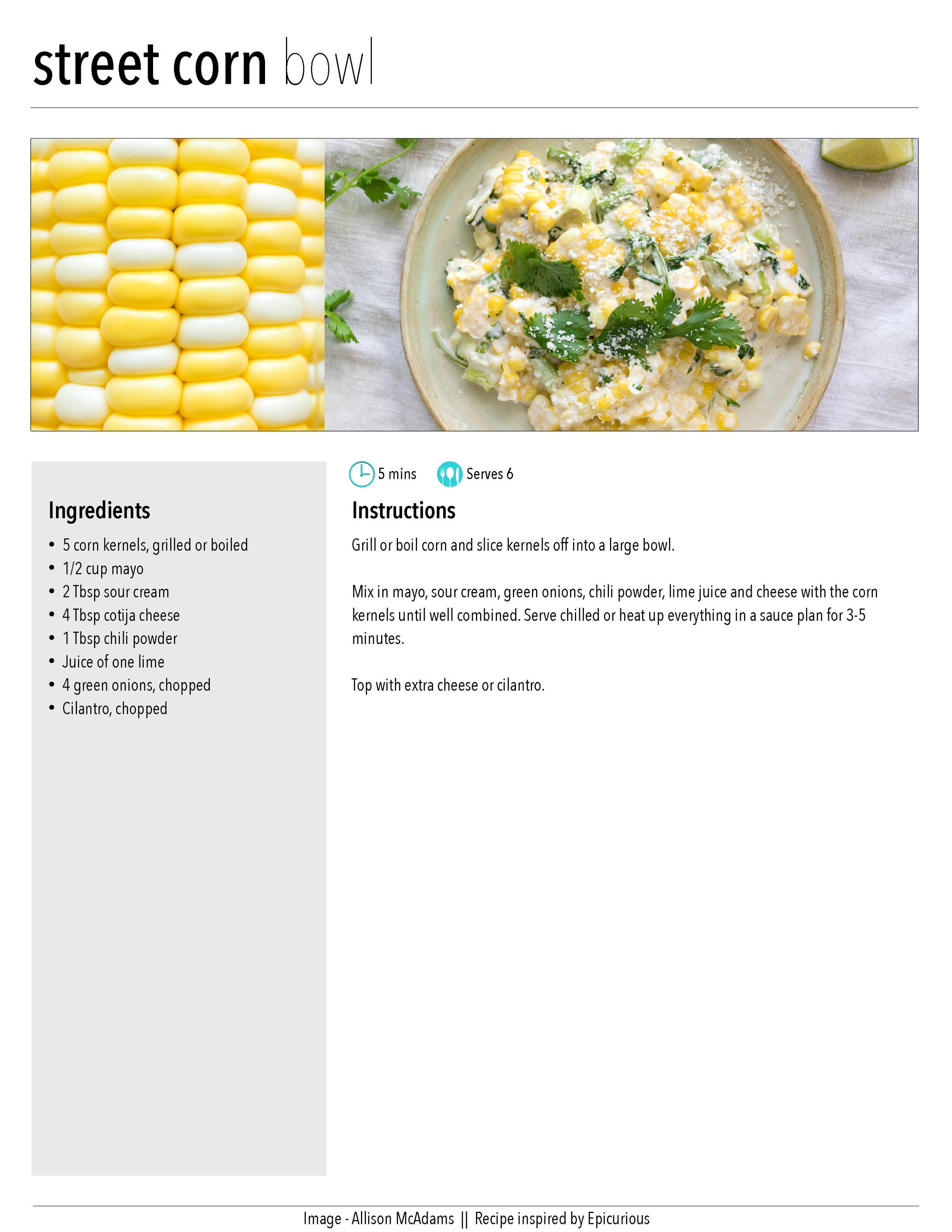 Street Corn Bowl