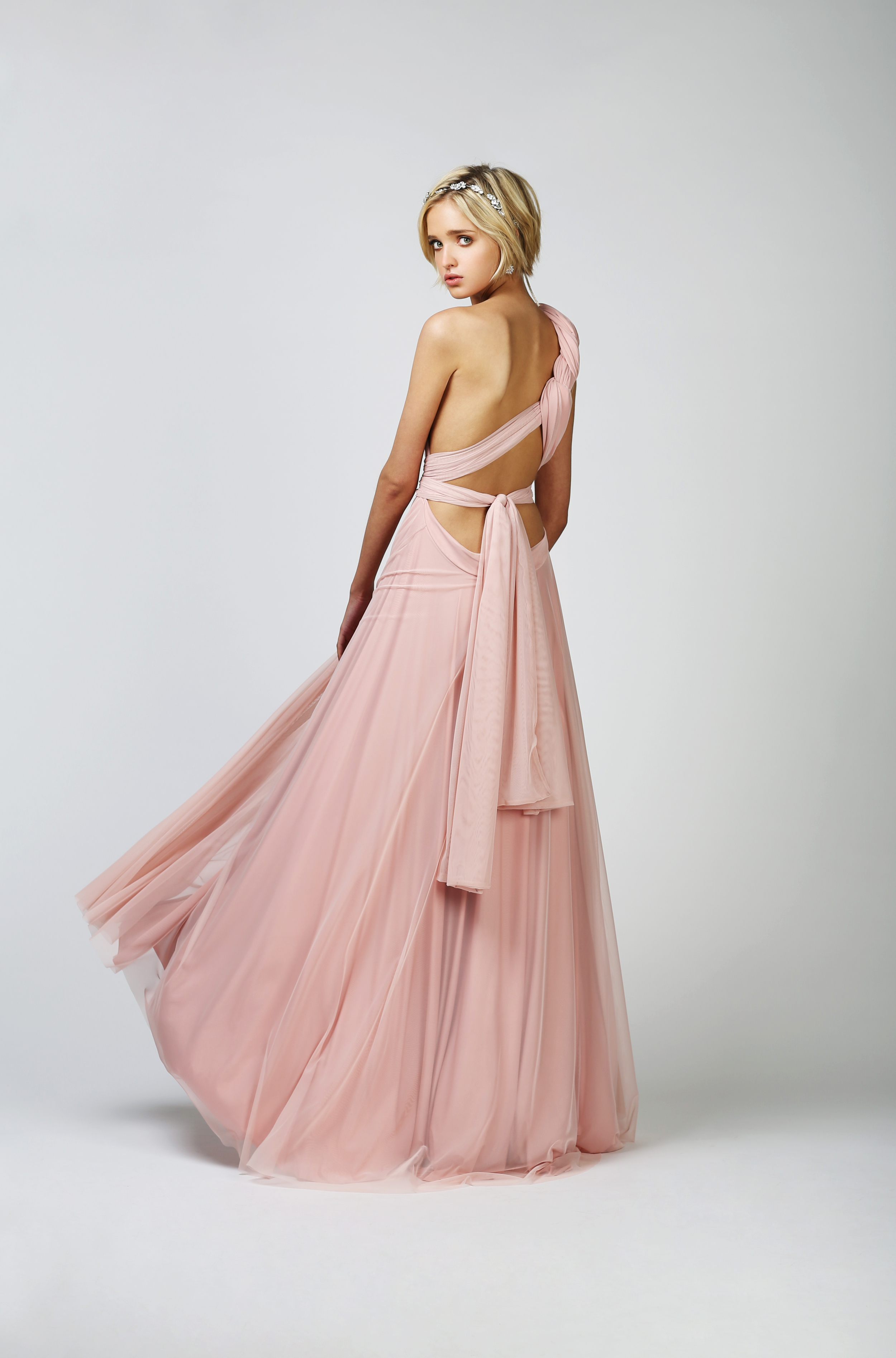 TWO BIRDS TULLE BALL GOWN - BLUSH