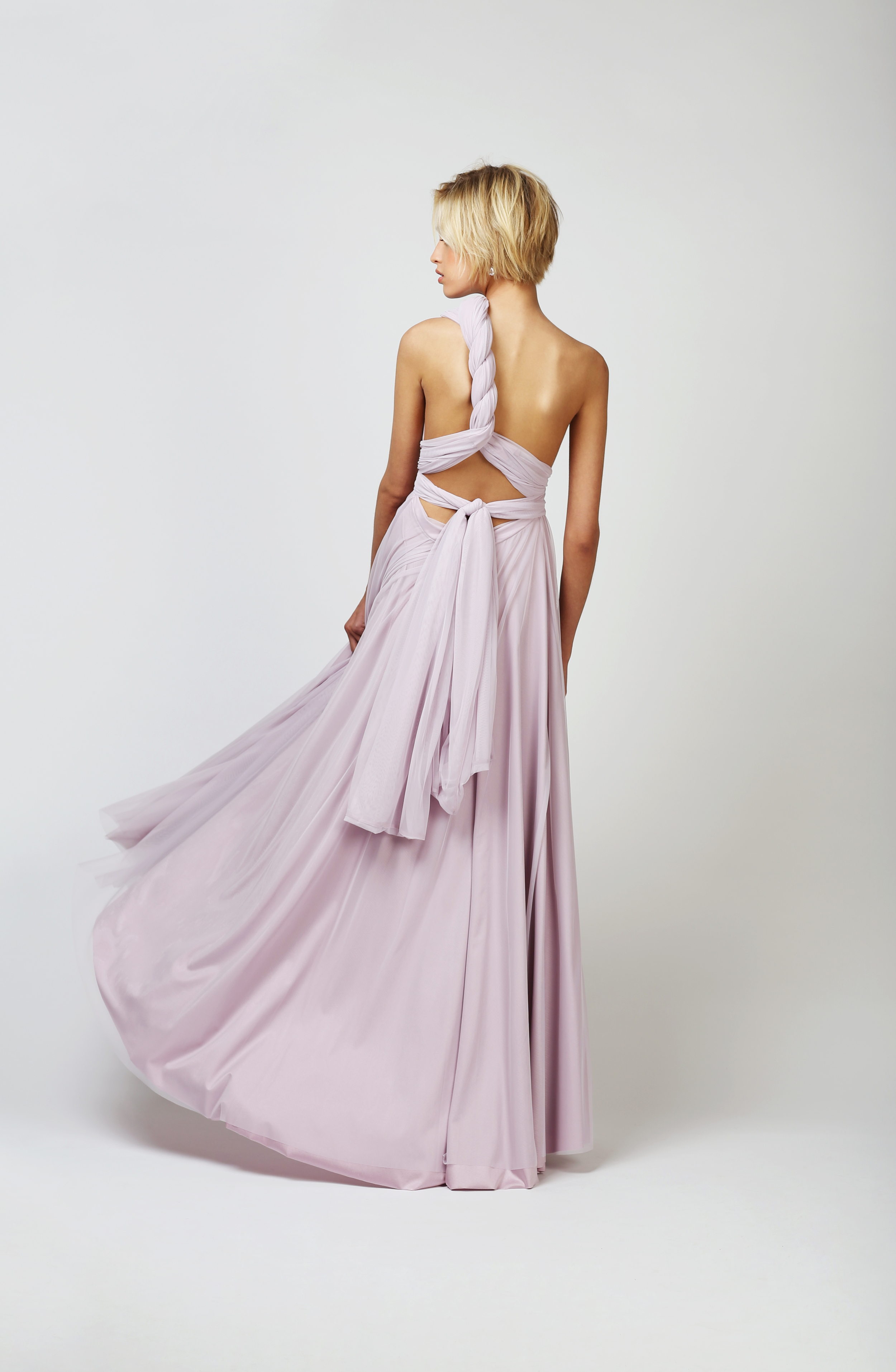TWO BIRDS TULLE BALL GOWN - LILAC