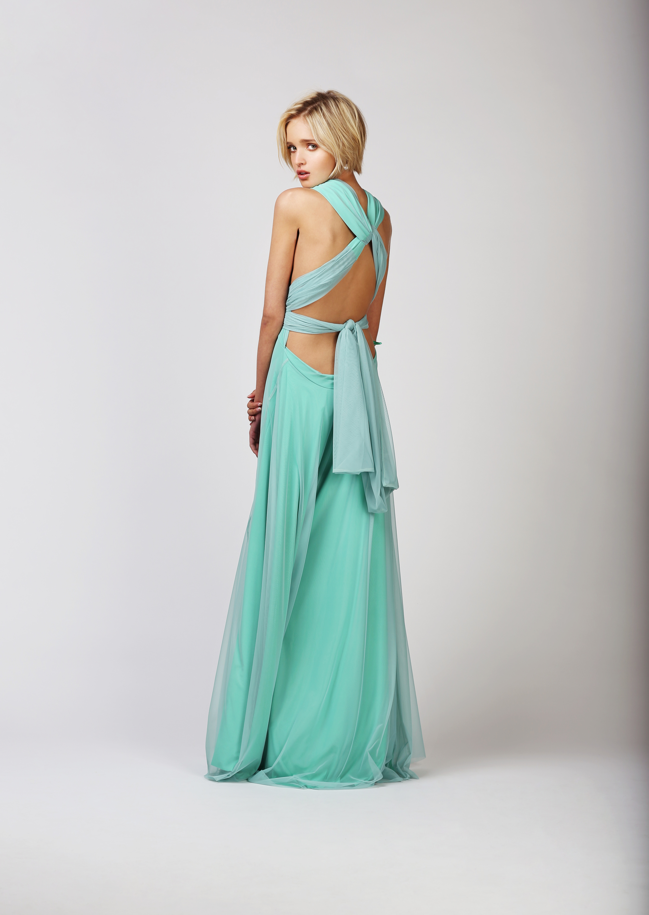 TWO BIRDS TULLE BALL GOWN - SEAFOOD
