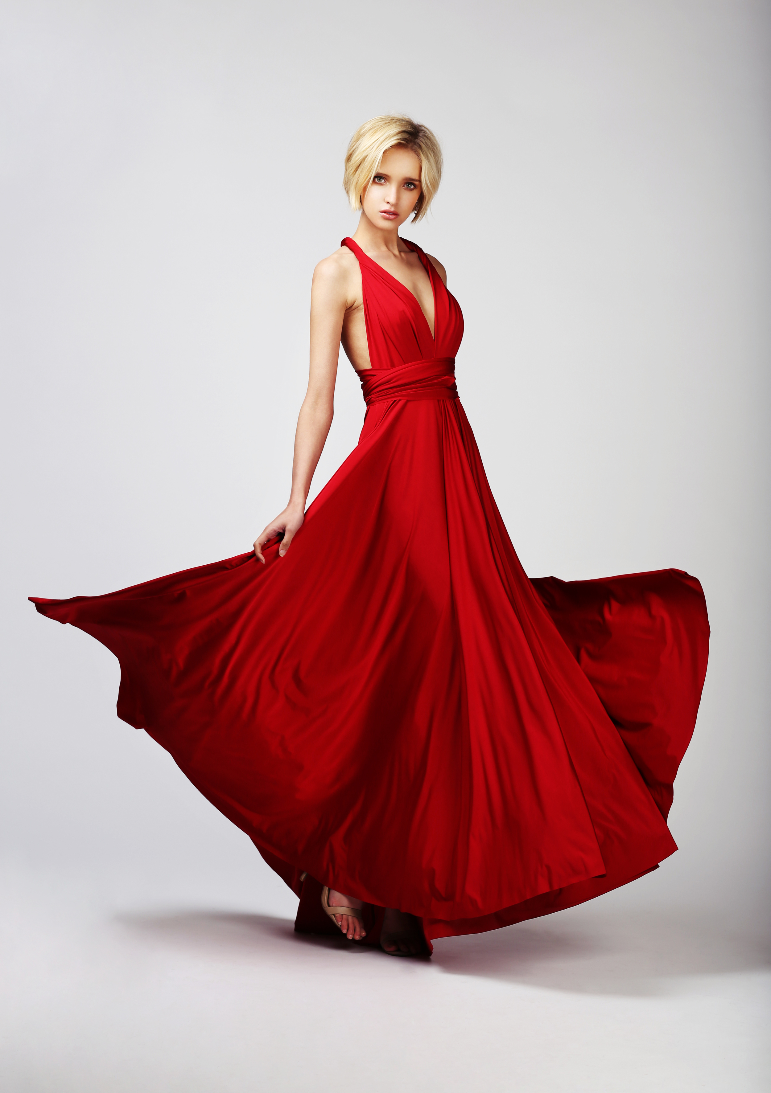 TWO BIRDS BALL GOWN - CABERNET RED