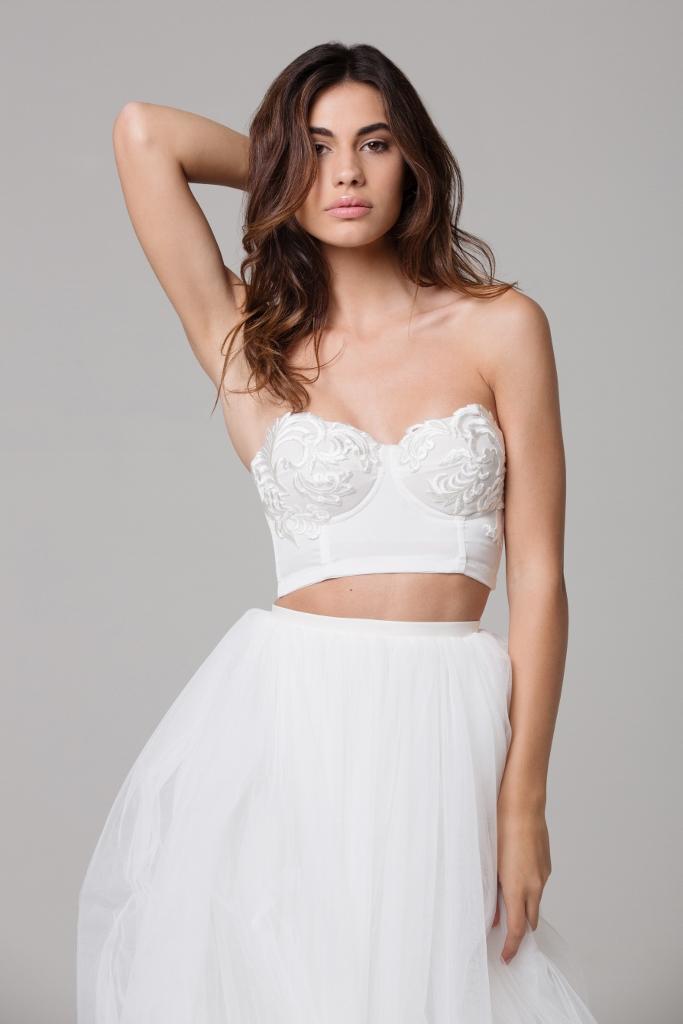 LOVE FIND CO. // Ivie White Bridal - The Vienne Bodice & Noella Skirt // Follow @lovefindco