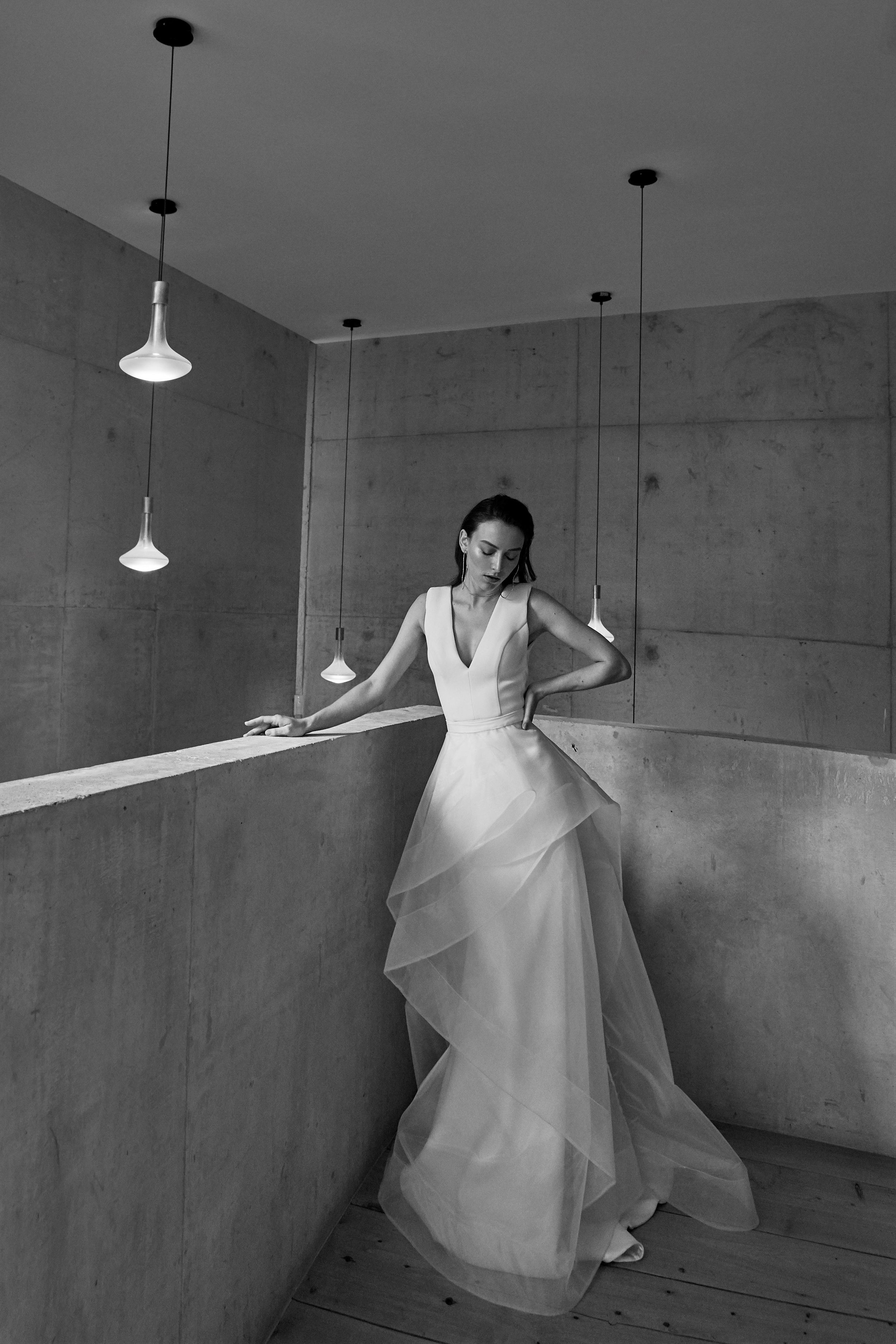 Broome Bridal Dress with Orchid Skirt by CHOSEN by ONE DAY BRIDAL - Empire Collection   View on LOVE FIND CO.