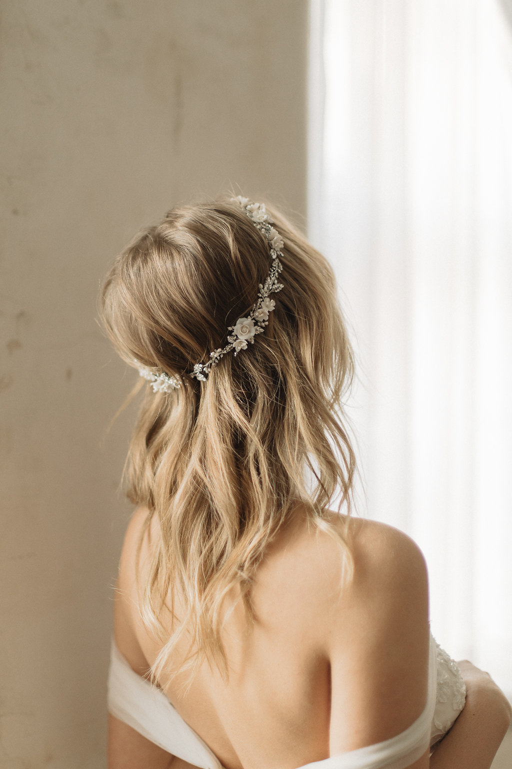 Gabriel Floral Wedding Crown