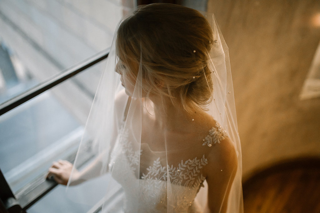 Theodore Pearl Chapel Wedding Veil