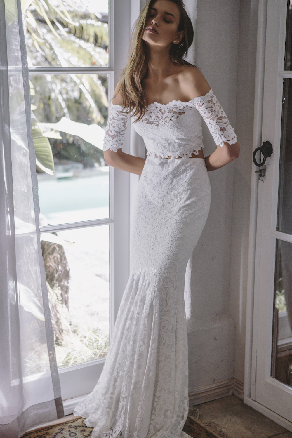 The EVERLY wedding dress from the Les Deux Capsule Collection by Grace Love Lace featured on LOVE FIND CO.