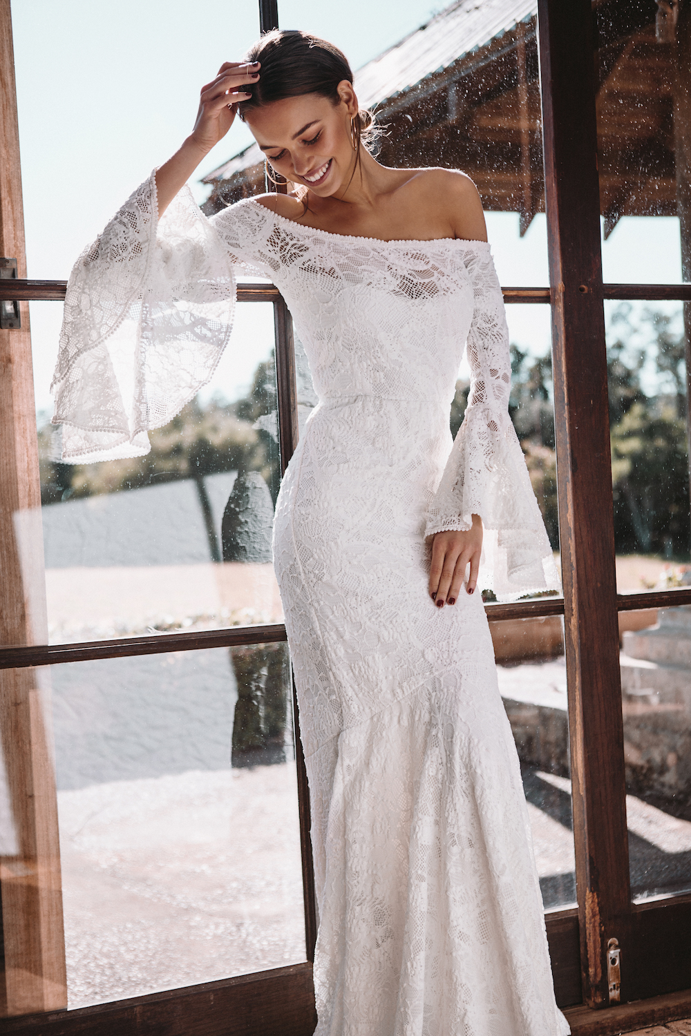 The SLOANE wedding dress from the Les Deux Capsule Collection by Grace Love Lace featured on LOVE FIND CO.