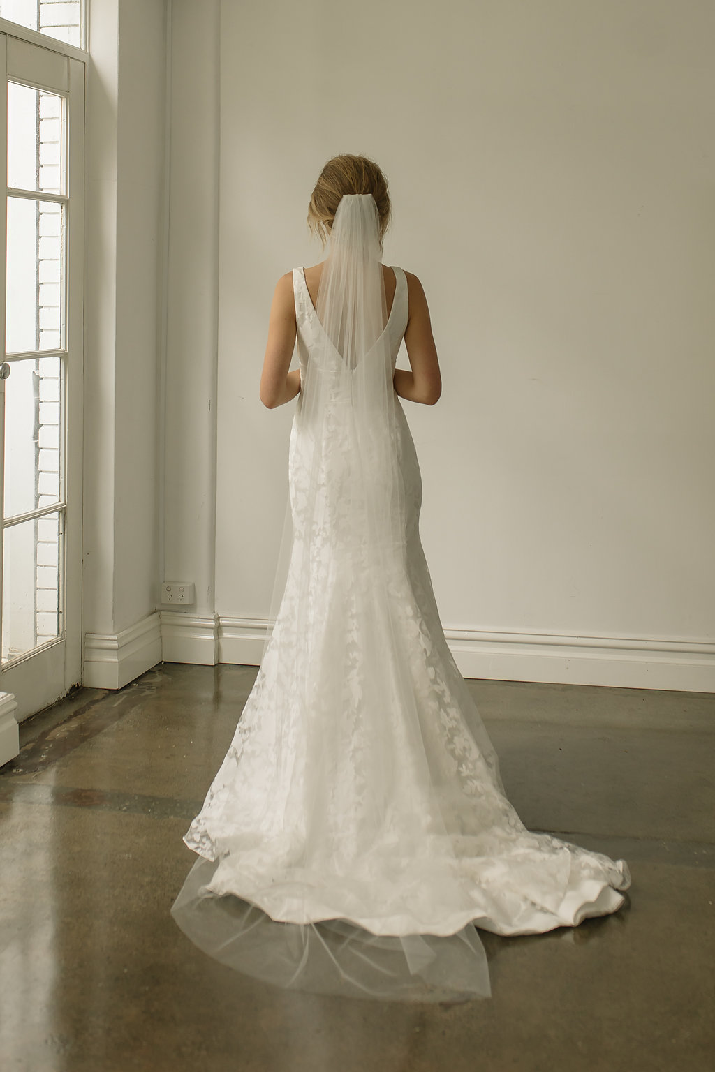 WYNTER CLASSIC CHAPEL LENGTH WEDDING VEIL with Tania Maras Bridal