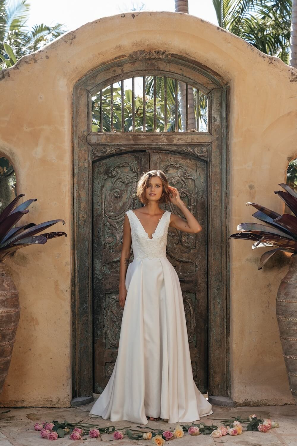 At First Sight wedding dress by Jennifer Go Bridal featured on LOVE FIND CO.