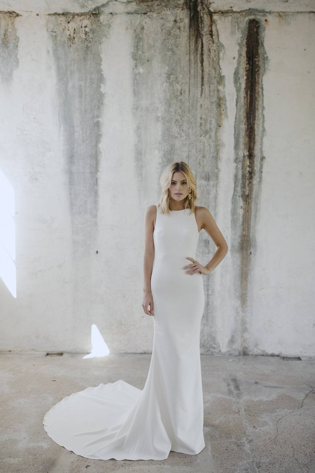 The Billie Halter Neck Wedding Dress by Made With Love Bridal featured on LOVE FIND CO.