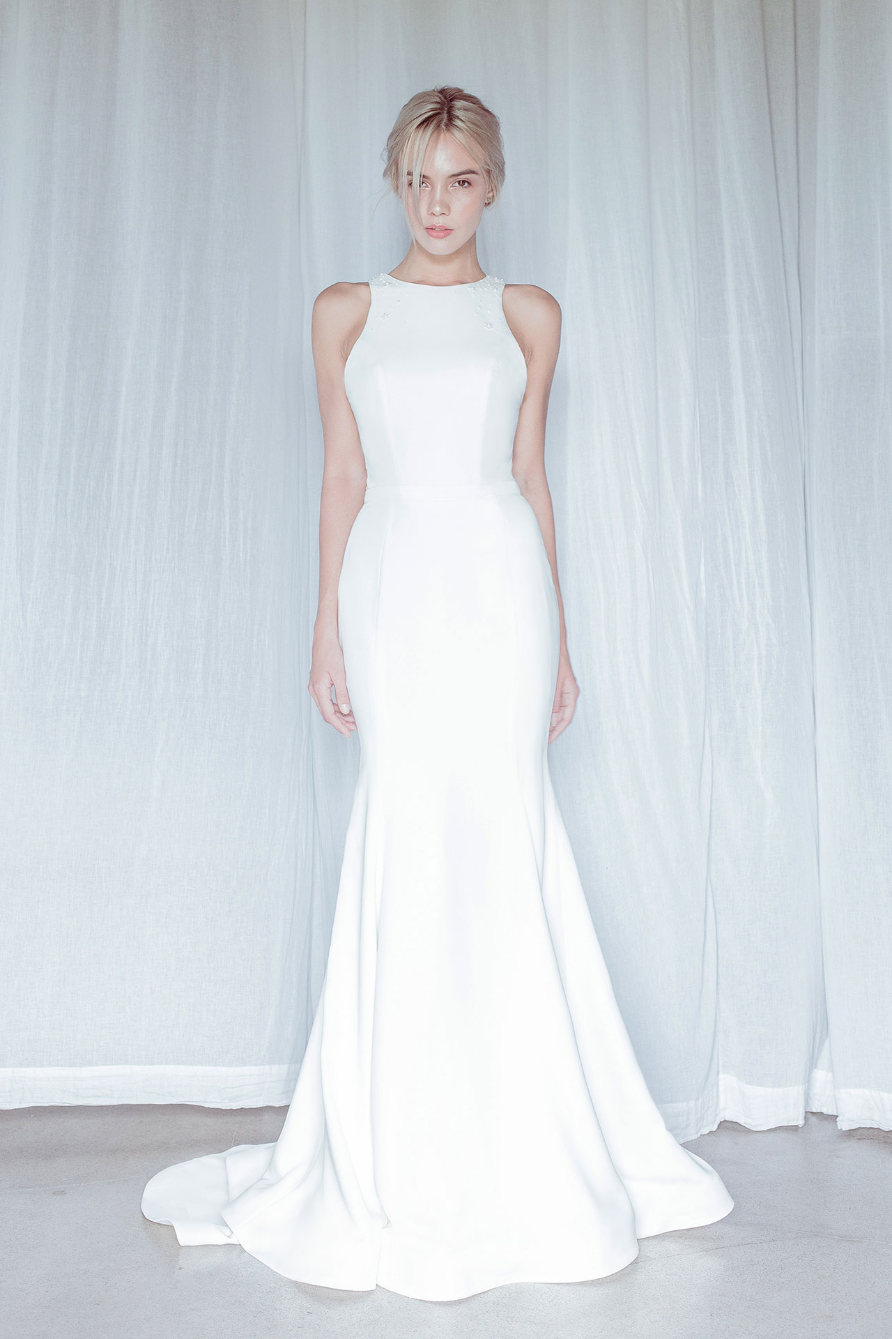 The Cook Halter Neck Wedding Dress by Oui The Label featured on LOVE FIND CO.