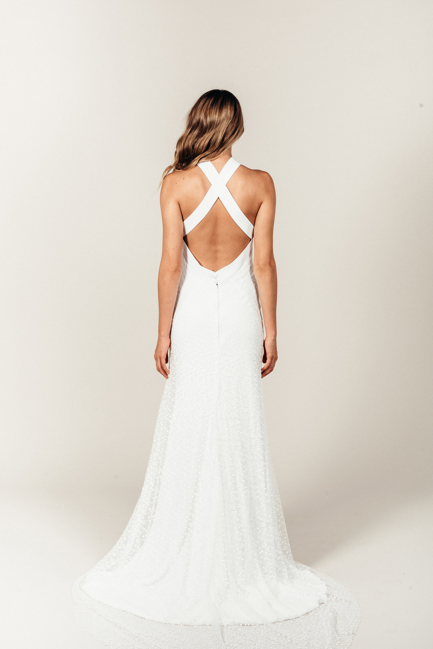 Inspired by a Duchess Halter Neck Wedding Dress — Love