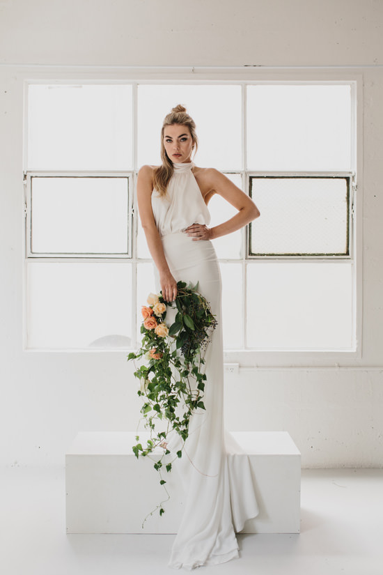 The Monaco Halter Neck Wedding Dress by Marquise Bridal featured on LOVE FIND CO.