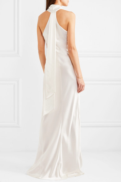 Galvan halter neck wedding dress available on Net A Porter featured on LOVE FIND CO.
