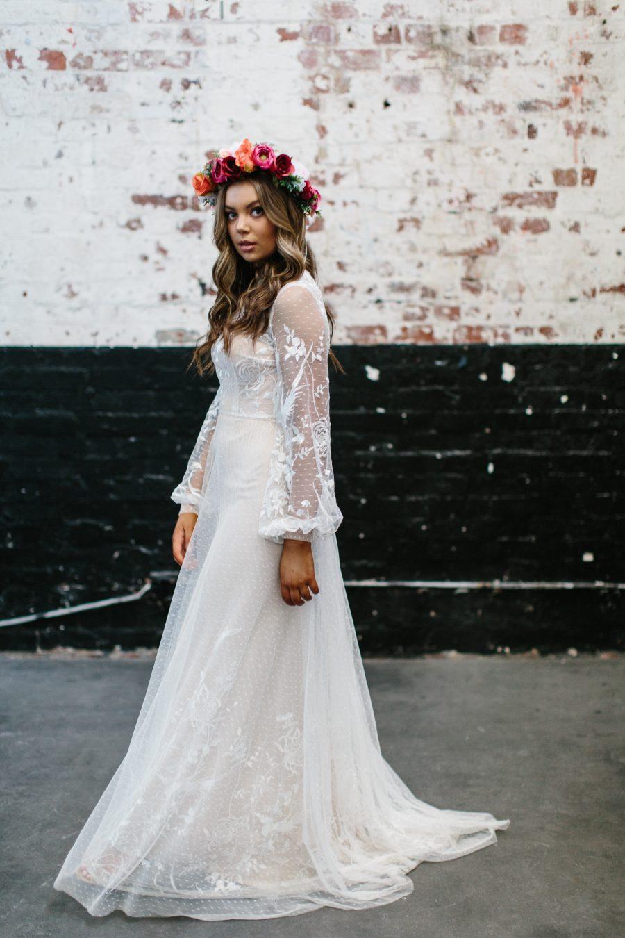 Celine wedding dress by Jennifer Gifford Bridal