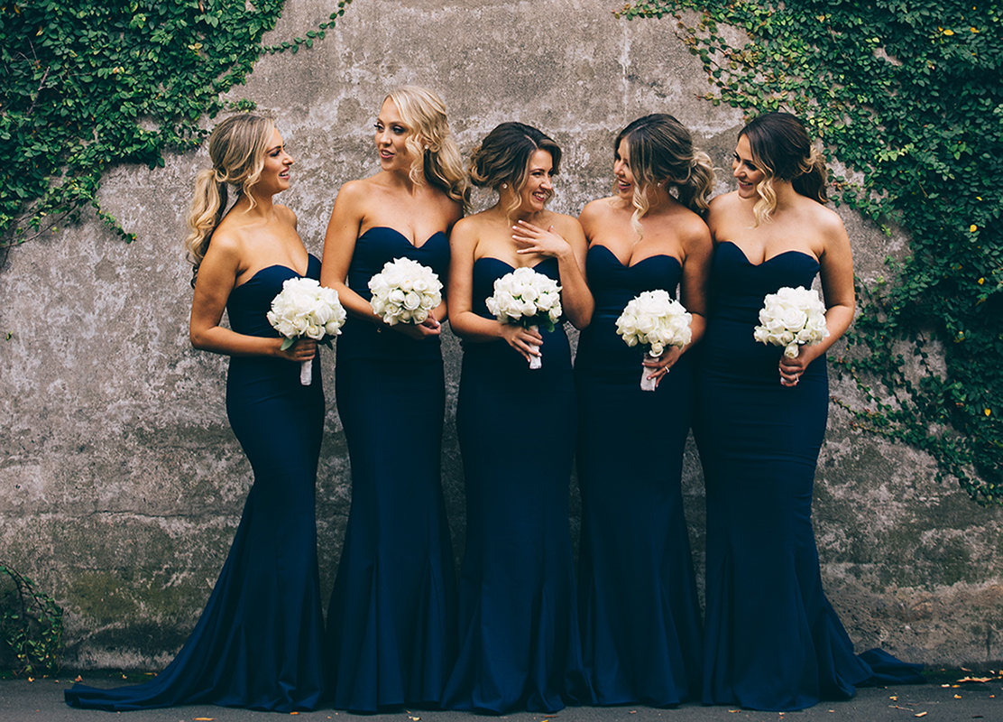 White Runway bridesmaid dresses featured on LOVE FIND CO