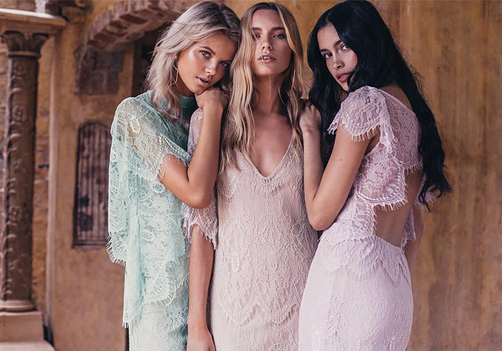 Grace Loves Lace Bridesmaids featured on LOVE FIND CO.