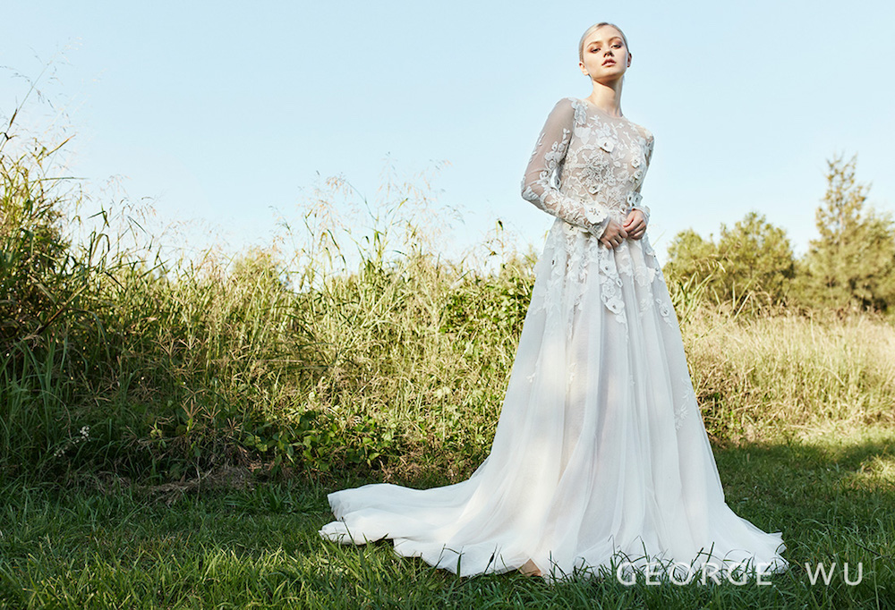 Valle Wedding Dress by George Wu featured on LOVE FIND CO.