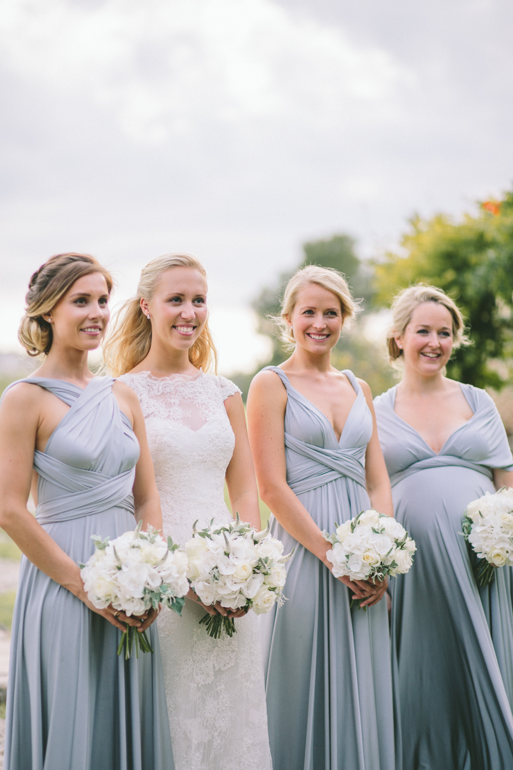 Two Birds Bridesmaid Dresses for pregnant bridesmaids featured on LOVE FIND CO