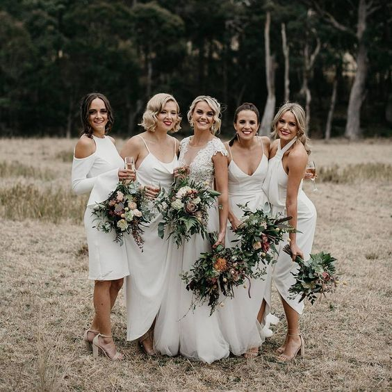 Off White Bridesmaid Dresses featured on LOVE FIND CO.