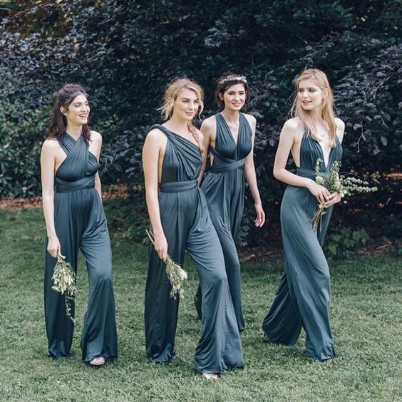 Bridesmaids wearing jumpsuits featured on LOVE FIND CO.