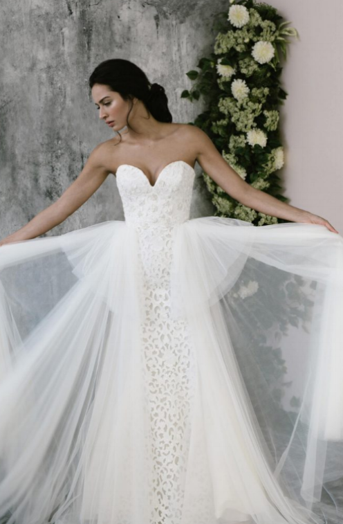 Guipurean Tulle Gown on LOVE FIND CO.