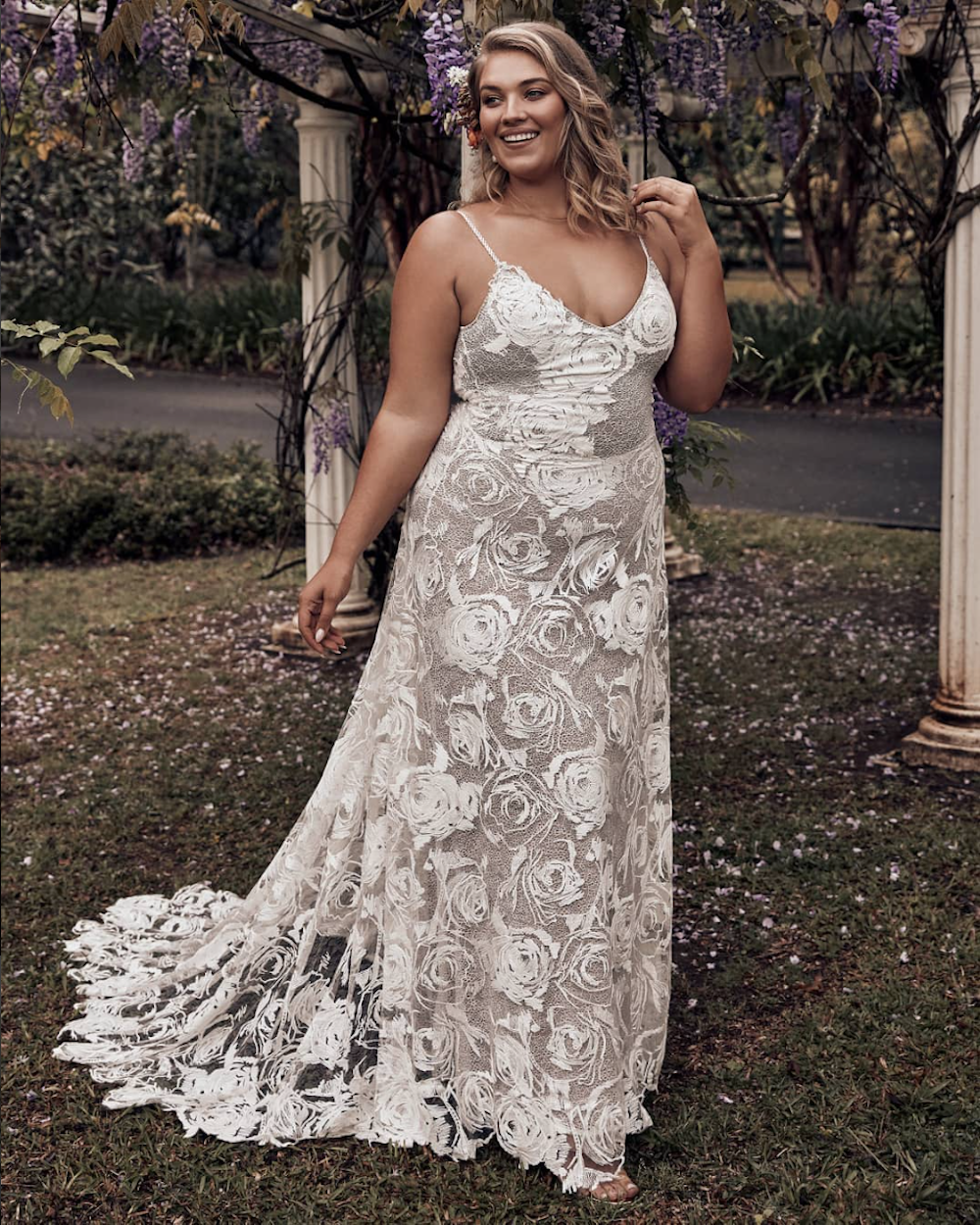 The ROSA wedding dress for plus size brides by Grace Loves Lace featured on LOVE FIND CO.