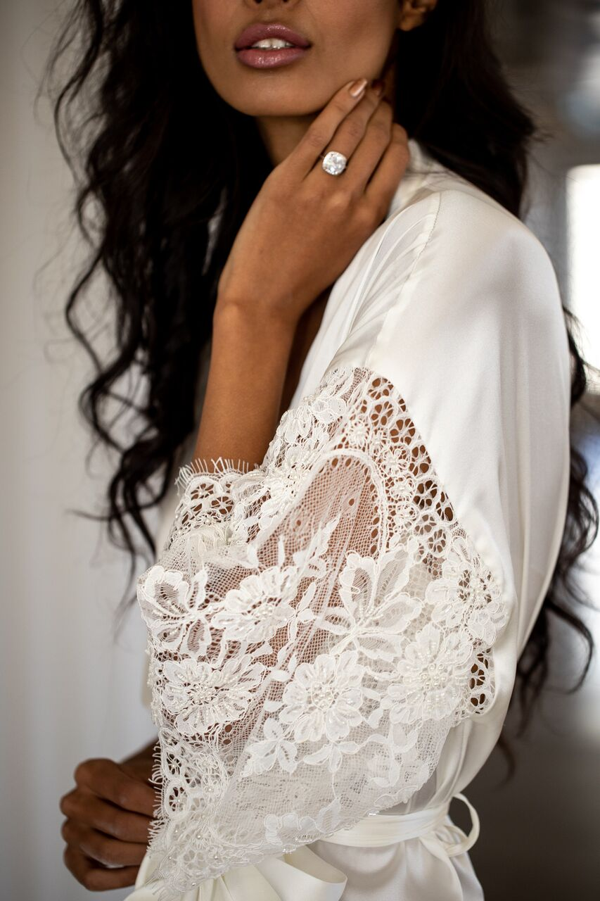 The Grace Bridal Robe by Daphne Newman featured on LOVE FIND CO