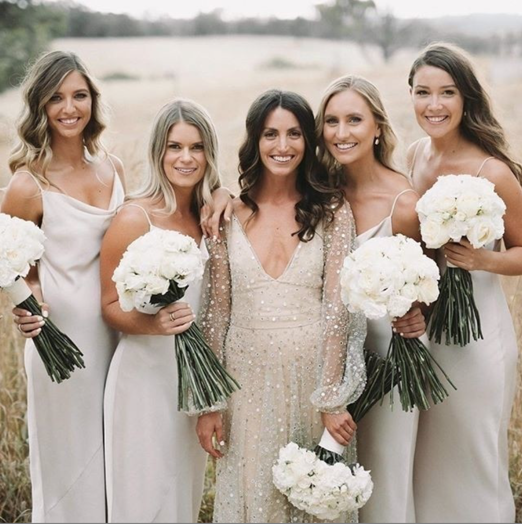 The perfect mix and match bridesmaid dresses featured on LOVE FIND CO.