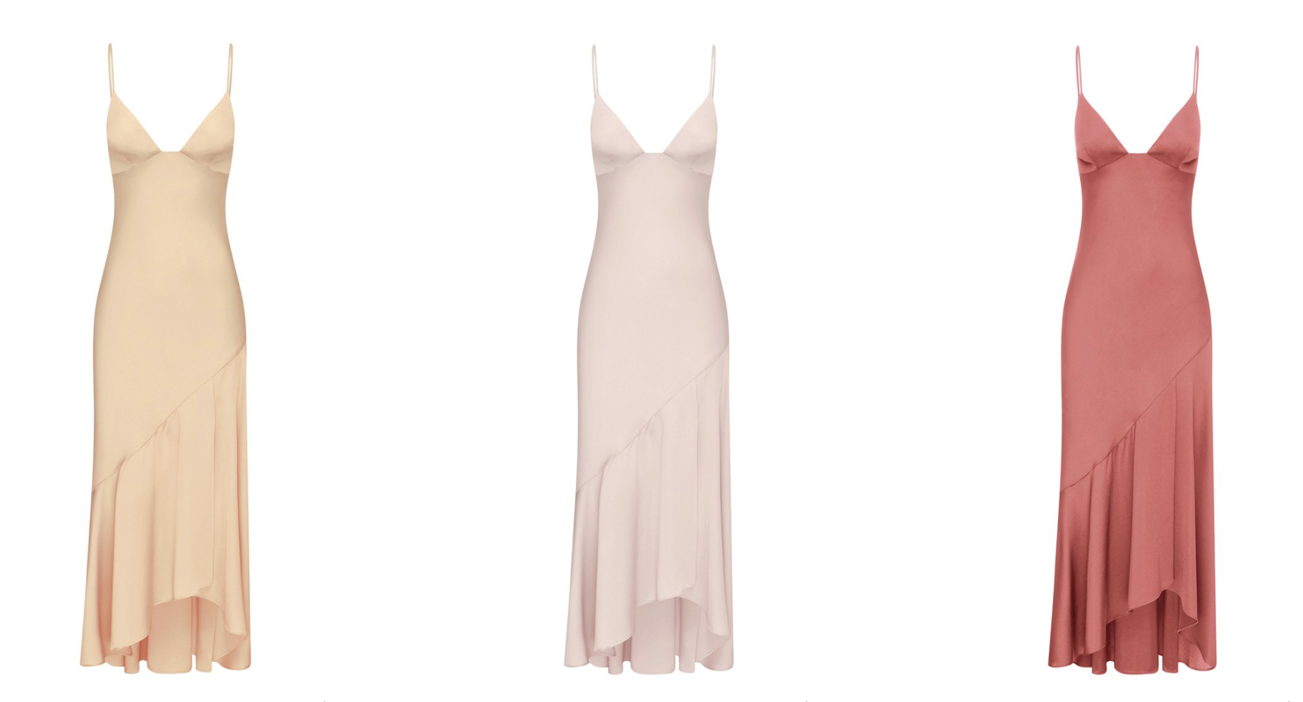 LUXE BIAS ASYMMETRICAL SLIP DRESS - Shona Joy featured on LOVE FIND CO.