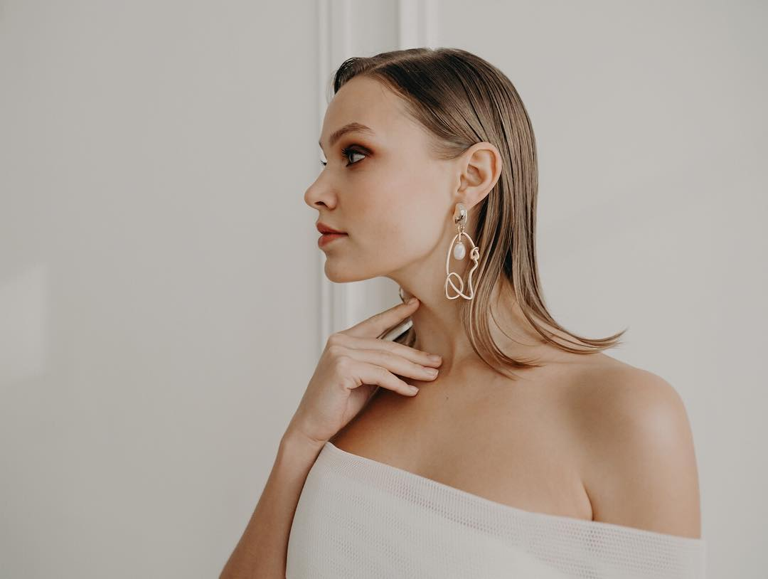 Jewellery Designer Maison Roe Pearl and Gold Earrings featured on LOVE FIND CO.