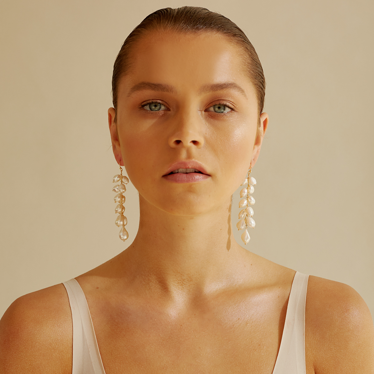 Jewellery Designer Amber Sceats Pearl and Gold Earrings featured on LOVE FIND CO.