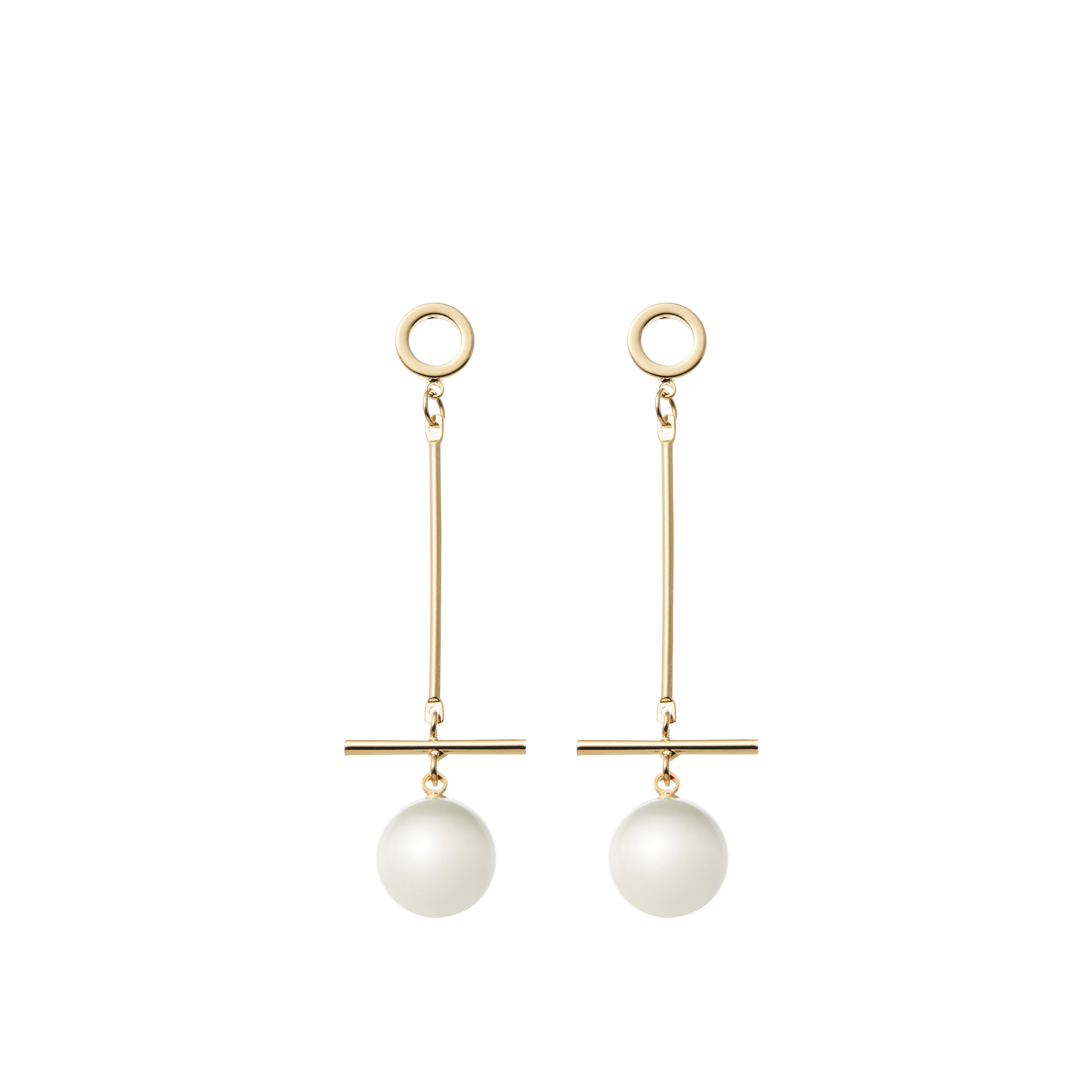 Jewellery Designer Amelie George Pearl and Gold Earrings featured on LOVE FIND CO.
