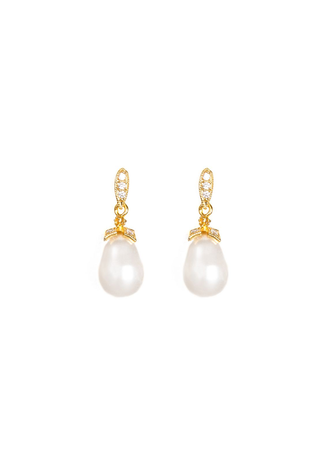 Jewellery Designer Tania Maras Bridal Pearl and Gold Earrings featured on LOVE FIND CO.