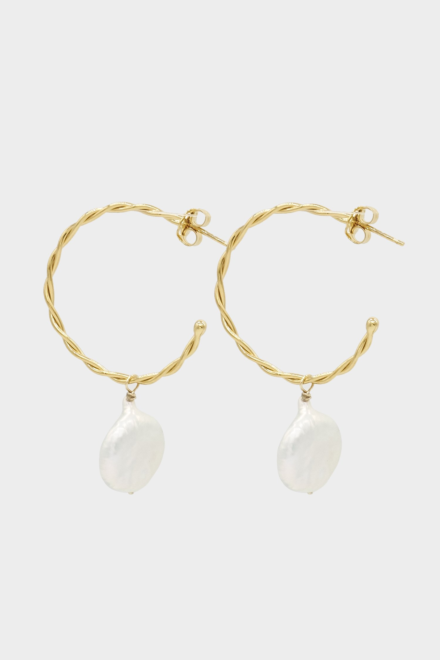 Jewellery Designer Natasha Schweitzer Pearl & Gold Earrings featured on LOVE FIND CO.
