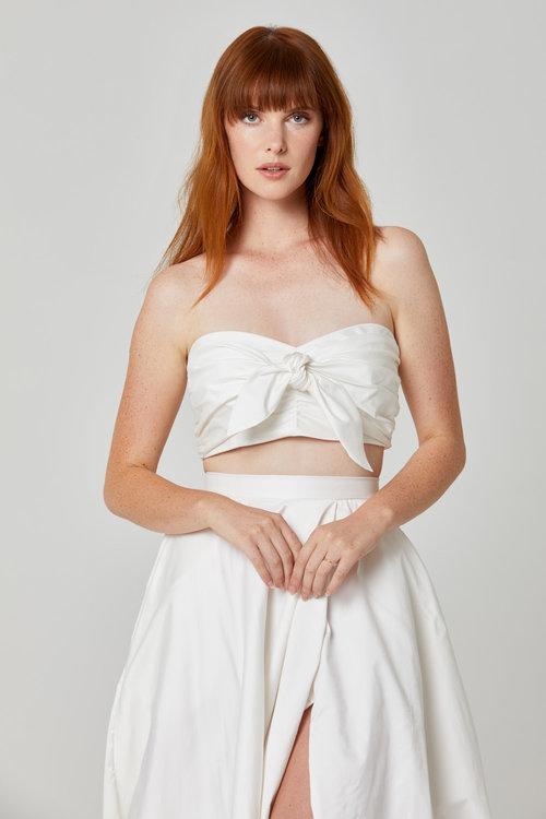 Australian Bridal Brand Ivie White - Tallulah Bandeau & Skirt featured on LOVE FIND CO.