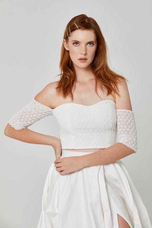 Australian Bridal Brand Ivie White - Esme Crop & Tallulah Skirt featured on LOVE FIND CO.
