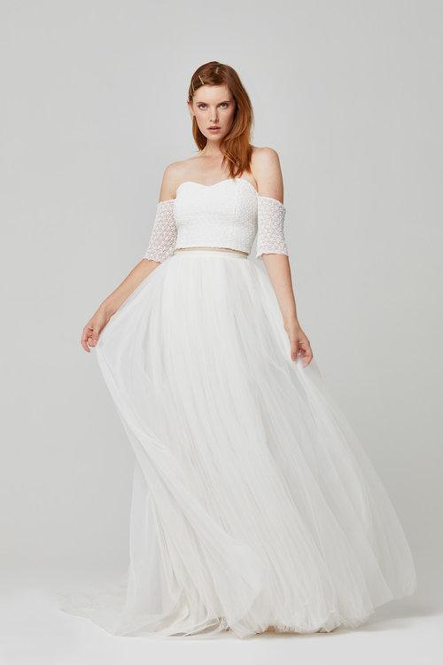 Australian Bridal Brand Ivie White - Esme Crop & Noella Skirt featured on LOVE FIND CO.